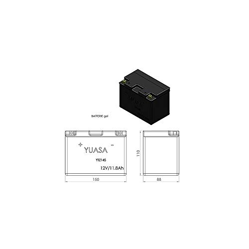 Batería para moto YUASA YTZ14S, gel de alto rendimiento (12V, 12Ah)