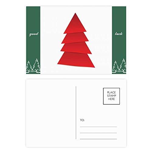Abstraktes Weihnachtsbaum-Origami-Muster, Glücksbringer-Postkarten-Set, Karten, Postkarten, Seite, 20 Stück