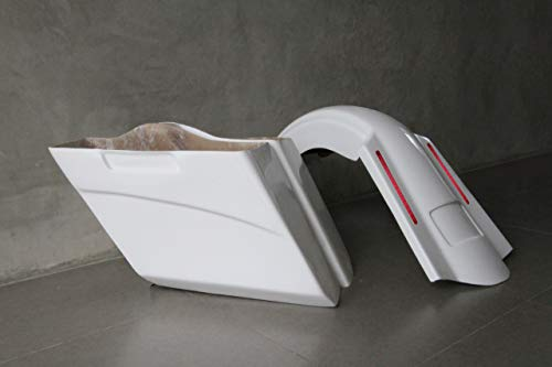 Amazing Deal Harley Davidson 5 extended stretched saddlebags and Replacement LED fender for 09-13 t...