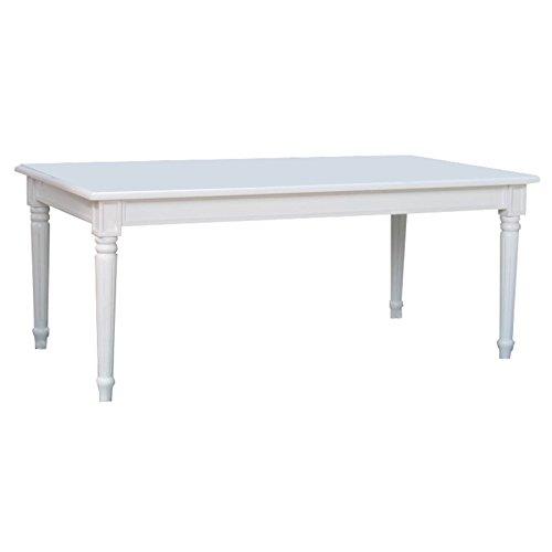 Amaretta Esstisch Esszimmertisch Tisch Erweiterbar Landhaus weiß antik patiniert