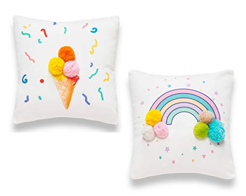 Sancarlos Rainbow Pack de Fundas de cojín, Multicolor, 35x35 cm, 2