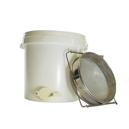 Cuve à miel 25 L avec double filtre en acier inoxydable