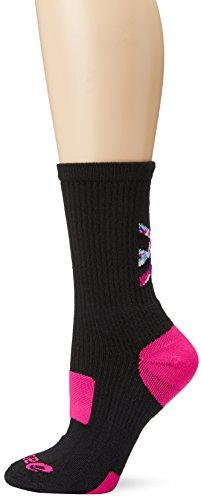ASICS., Niñas Mujer Unisex adulto Niños Hombre, Calcetines, ZK2261, negro y rosa brillante., medium