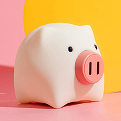 SWWS Lámpara de mesa luminosa de cerdo de cerdo de noche, luz de noche de silicona para niños, luz de noche recargable USB LED para dormitorio, habitación de los niños regalo decorativo
