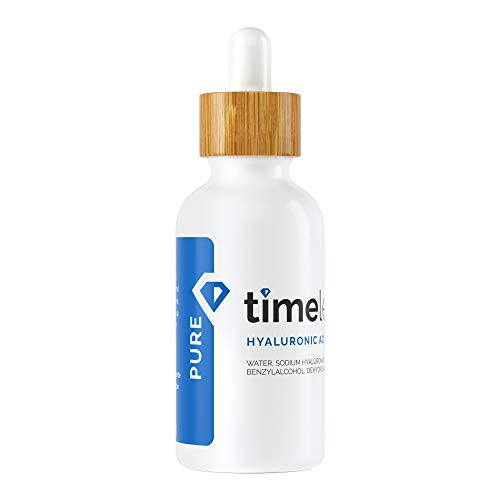 Timeless Skin Care Hyaluronic Acid 100% Pure Serum - 2 oz - Powerful Formula to Rehydrate Skin & Boost Moisture Levels + Relieves Appearance of Skin Tightness - Recommended for All Skin Types