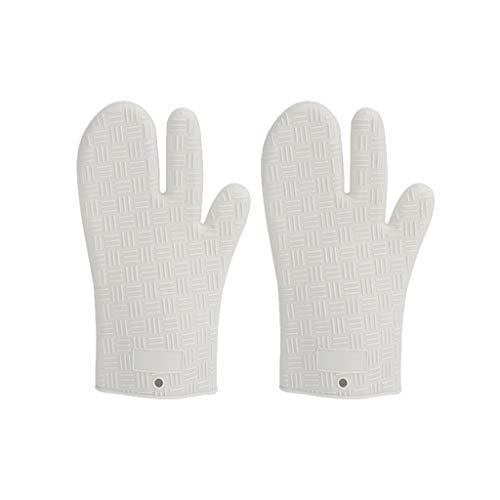 Horno Guantes antiescaldadura alta temperatura de la mano del clip guantes domésticos Hornear Horno Microondas aislamiento de silicona Guantes para Ollas Hornos (Color : B)