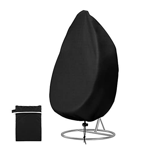 Redmoo Fodera protettiva per sedia sospesa, fodere per sedie galleggianti, impermeabile, antivento, Anti-raggi UV per mobili da giardino, inclusa borsa per il trasporto Oxford (Nero, 115x190cm)