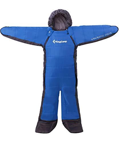 KingCamp 寝袋 人型寝袋 シュラフ 丸洗いOK 着る寝袋 歩ける寝袋 撥水加工「最低使用温度-8℃」 アウトドア キャンプ 釣り 室内 防寒グッズ 冬用