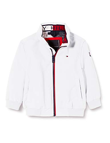 Tommy Hilfiger Jungen Essential Jacket Jacke, Weiß (White 658-170 Ybr), One Size (Herstellergröße: 86)
