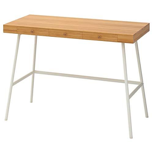 UK Bargain Seller PÅHL Escritorio de bambú 102x49 cm resistente y fácil de cuidar. Escritorios para el hogar, escritorios para ordenador, mesas y escritorios, muebles y ambientales.