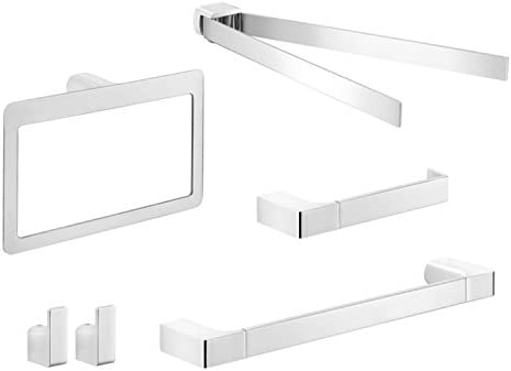 Gedy New Free Shipping PI1135 Pirenei Wall Hardware Mounted Chrome famous Bathroom