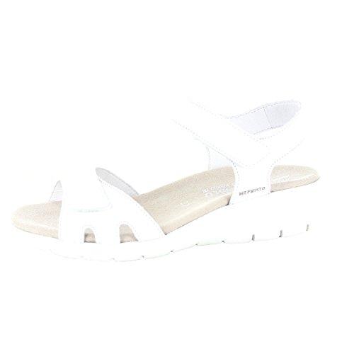 Mephisto - Sandalias Deportivas de Material Sintético para Mujer, Color Blanco, Talla 40 EU
