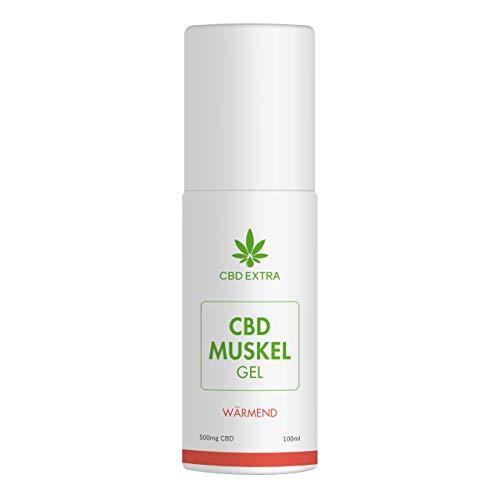 CBD EXTRA Muskelsalbe (Wärmend) – 100% THC-freie CBD Salbe mit wärmendem Effekt für beanspruchte Muskulatur und Gelenke – Wärmesalbe mit wertvollen Inhaltsstoffen aus der Natur, 100 ml