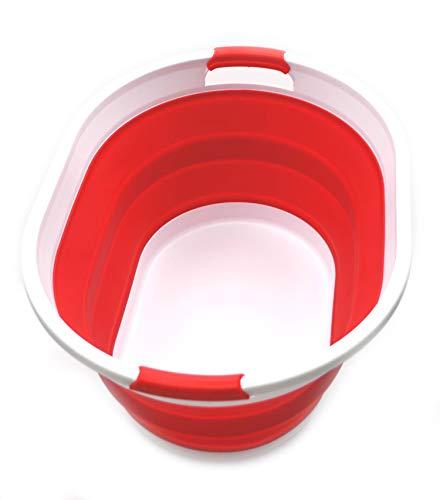 SAMMART Cesto Ropa Plegable plástico - Tina/cesto