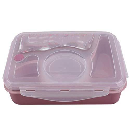 Bts Lunch Box Bento Lunch Boxpink Lunch Box-Isolierbox Nahrungsmittelbehälter-Aufbewahrungsbehälter-Kasten-Behälter-Organisator Mikrowelle Partition-Küche-Werkzeug (Color : Gray)