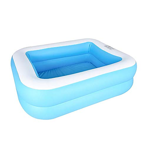 PAXLWSSY Inflatable Swimming Pool, Inflatable Kiddie Pool, Full-Sized Family Lounge Pools Above Ground for Baby, Kids, Adults, Toddlers, Outdoor, Garden, Backyard,128x85x45cm