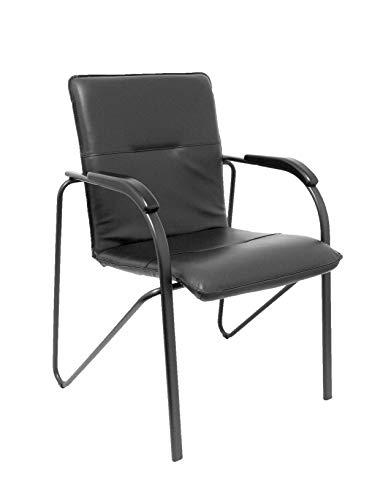 Hosenträger und Crespo (PIQU7) Packung mit 2 Stühlen Balsa Kunstleder schwarz Büro, Einheitsgröße
