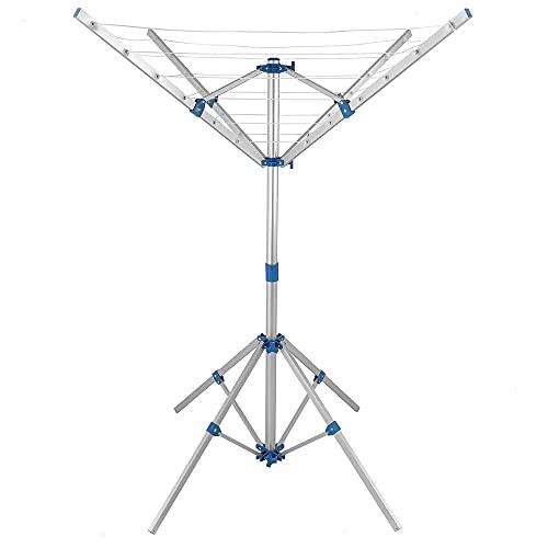 Vetrineinrete Stendibiancheria rotante da esterno stendino pieghevole a ombrello in alluminio H45