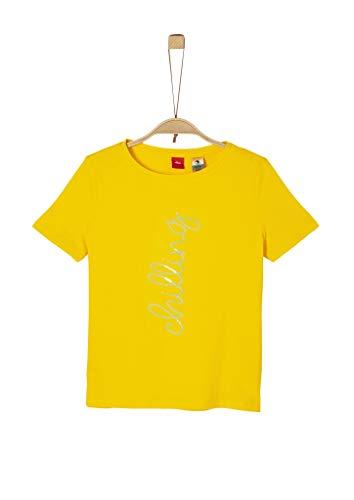 s.Oliver Junior Mädchen 401.10.004.12.130.2019683 T-Shirt, Gelb (1365 Yellow), L/REG