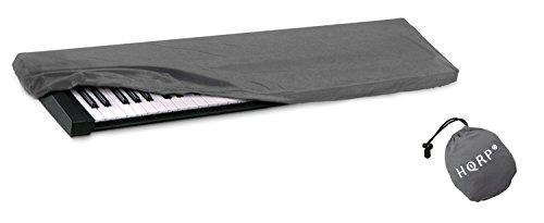 HQRP Tastaturtaubschutzhuelle / Graue Staubabdeckung fuer Yamaha P-115 / P115 / P-115B / P115B / P-115WH / P115WH Digital Klavier Synthesizer mit HQRP Untersetzer