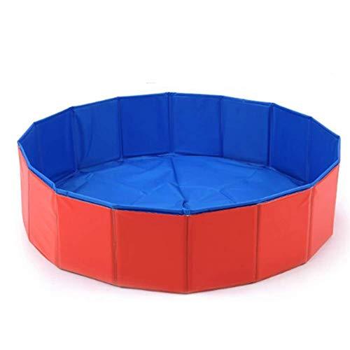 YANGHAO-Bañera grande- Piscina para niños plegables, set rápido perro mascota bañera, al aire libre Pad Pastel Pools, jardín sobre piscina en tierra para niños adultos rojo 80x20cm / cqyych-143 /KZDYG