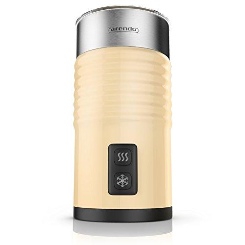 Arendo milkloud Milchaufschäumer automatisch - Milk frother - rostfreies Doppelwanddesign - 2-Tasten für Warm- und Kaltaufschäumen - Soft-Touch-Oberfläche - Überhitzungsschutz
