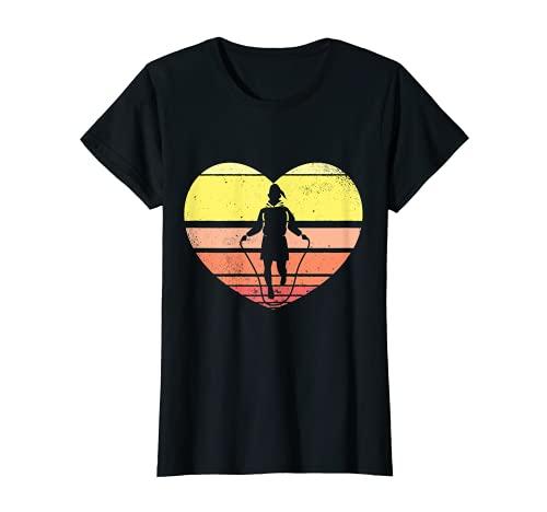 Rope skipping women Heart Vintage Jump Rope T-Shirt