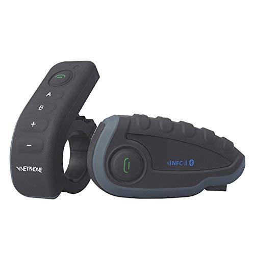 XIAOYAFANG HXFANG Vnetphone V8 Casco de la Motocicleta del intercomunicador de Bluetooth Headset Resistente a la Intemperie Interphone Mando a Distancia del Manillar con FM NFC functi Ahora Caliente