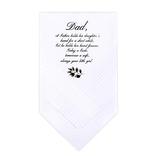 W&F GIFT Father Of The Bride Wedding Gift | Wedding Handkerchief Gift for Dad from Daughter