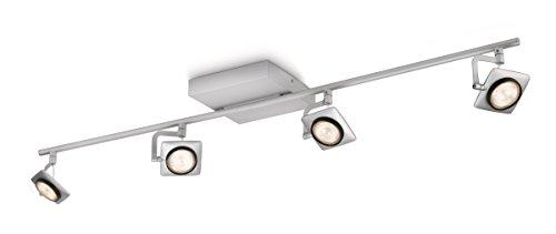 Philips myLiving Spot Millennium Warmglow Dimm-Effekt 4-flammig, aluminium