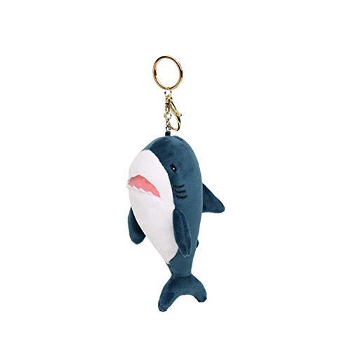 YUMEI Llavero de la bolsa de la decoración creativa perfumada suave felpa de dibujos animados tiburón llavero bolsa colgante llavero suave decoración llavero