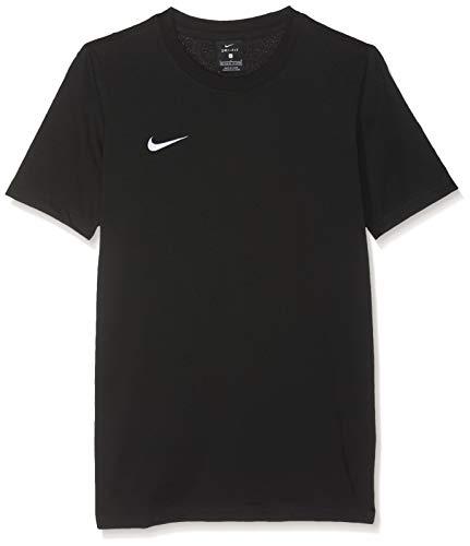 NIKE Y tee TM Club19 SS T-Shirt, Niños, Black/Black/Black/White, L