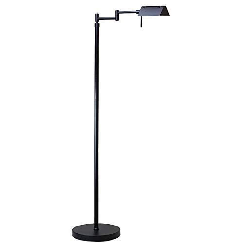 O'Bright Dimmable LED Pharmacy Floor Lamp, 12W LED, Full Range Dimming, 360 Degree Swing Arms, Adjustable Heights, Standing Lamp for Reading, Sewing, and Craft, ETL Listed (Black)