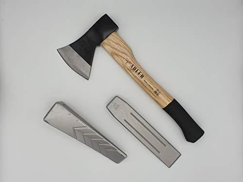Forstset 3 tlg. - Professional Handbeil 600g, Alu-Spaltkeil 550g, Alu-Spaltkeil gedreht 800g Made in Germany