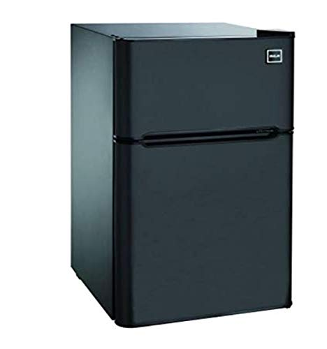 RCA RFR832-BLACK, 3.2 cu. ft. 2 Door Fridge with Freezer, Black Bar Fridge