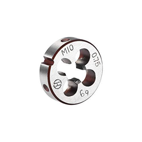 uxcell M10 X 0.75 Metric Round Die, Machine Thread Right Hand Threading Die, Alloy Steel