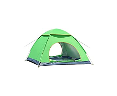 Instant Pop Up Camping Tent Waterproof 3-4 Person Camping Tent, Quick Set Up, Outdoor Hiking Backpacking Tent Shelter (C)