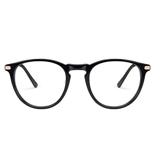 TSEBAN Vintage Polarisierte Damen Sonnenbrille Frauen Blaulichtfilter Brille, Acetat-Rahmen & UV 400 Schutz