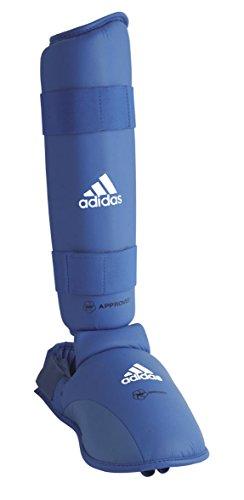 adidas Karate Schienbein und Spannschützer / Fuß Schoner blau, 2 Stück, Gr. M