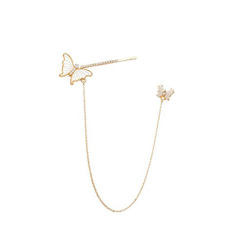 Pendientes de oro para ella, pendientes y pinzas para el pelo, diseño de mariposa, estilo vintage, elegante, regalo para mamá y hermana