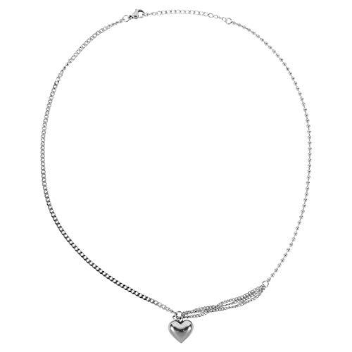 SOIMISS 1pc Creative Heart Necklace Shiny Lady Necklace Valentine's Day Necklace Decoration