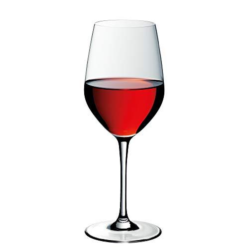 WMF Easy Plus Rotwein Weinglas 450ml, Kristallglas, spülmaschinenfest, transparent, Geschenk