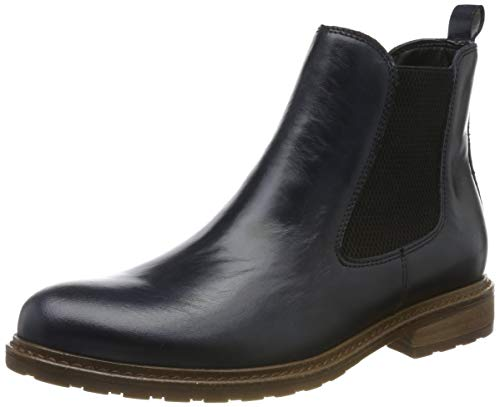 Tamaris Damen 1-1-25056-23 Chelsea Boots, Blau (Navy Leather 848), 42 EU