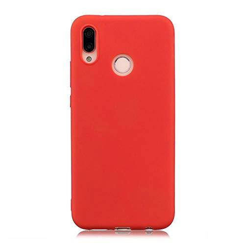 LIANLI Candy Macaron - Carcasa para Xiaomi Pocophone F1 Mi A1 A2 Lite 5X 8 SE 6X Redmi 4A 4X Note 4 5A 5 Plus 6 Pro 6A S2 Soft Cases (Color: Rojo, Tamaño: Redmi Note 4X 64GB)