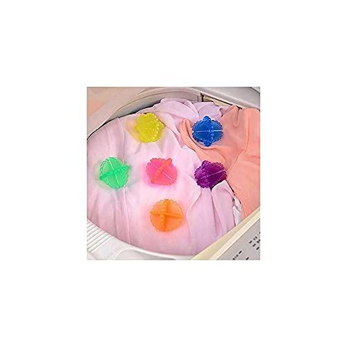 YuKeShop Wiederverwendbare Trockner-Bälle gegen Kleidung, zum Aufwickeln von Wäsche, zum Waschen von Stoffen, Reinigungskugeln für Waschmaschinen, Haarbälle, spart Trocknungszeit, 4 Stück
