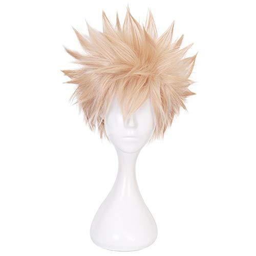 Elibeauty Anime My Hero Academia Cosplay Wigs Long/Short Hair Wigs Anime Costume Cosplay Gift(Type-2)