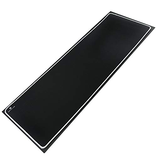 """Reflex Lab Large Extended Gaming Mouse Pad Mat XXL, Stitched Edges, Waterproof, Ultra Thick 5mm, Wide & Long Mousepad 36""""x12""""x.20' White"""