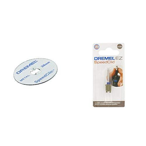 Dremel SpeedClic SC456B Metall-Trennscheiben & SC402 EZ SpeedClic Aufspanndorn - Zubehörsatz für Multifunktionswerkzeug mit 4 Dremel Aufspanndornen zur Verwendung bestimmter Zubehörteile