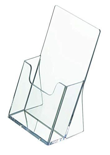 5 Stück Prospektständer Din Lang Hochformat/Prospekthalter Flyer-Ständer Werbung Aufsteller