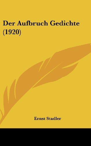 Der Aufbruch Gedichte (1920)